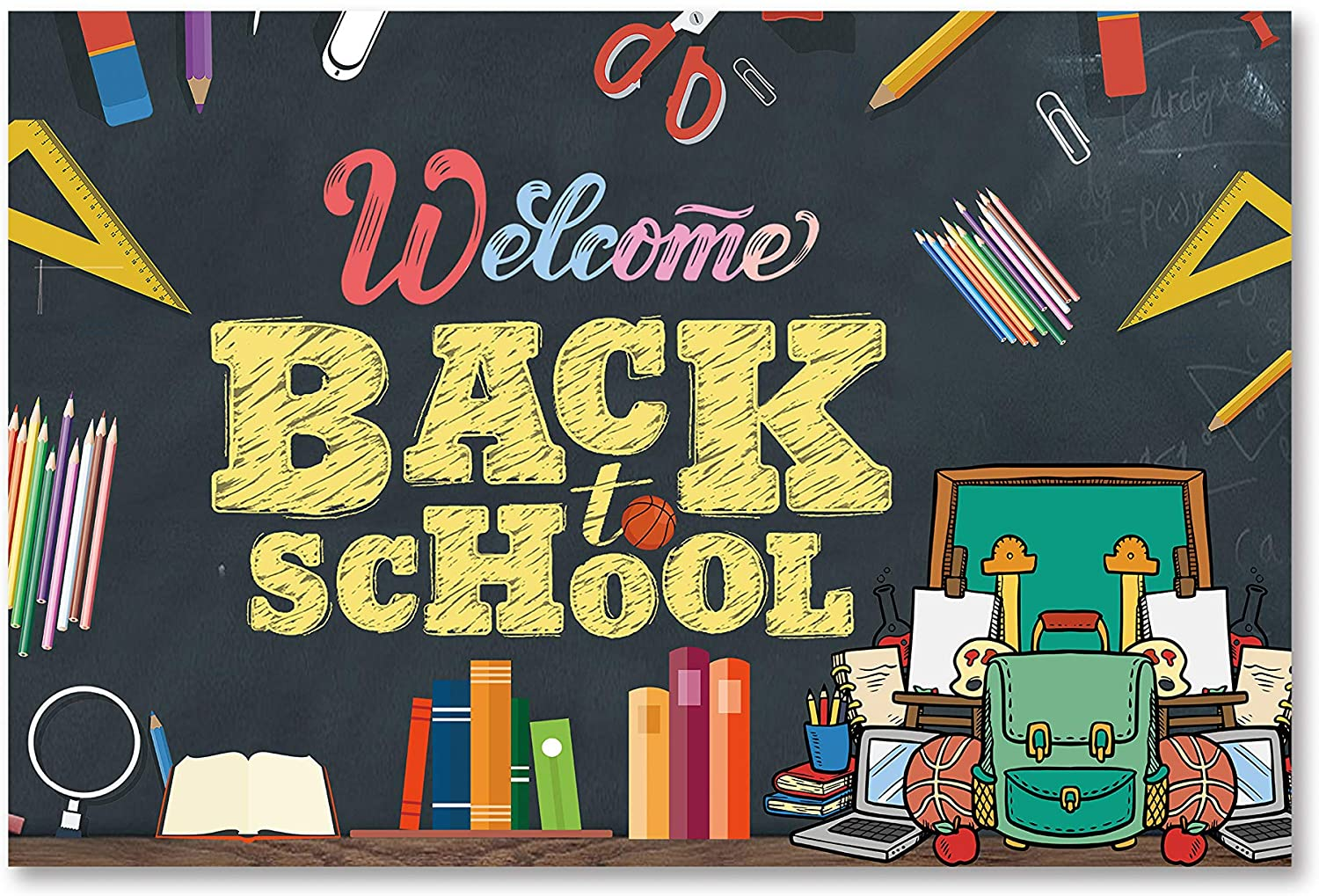 Amazon.com: Welcome Back to School Banner, 2021 Back to School Decorations, Back to School Party Decorations,First Day of School Banner,Welcome Back to School Logo Banner,: Health & Personal Care